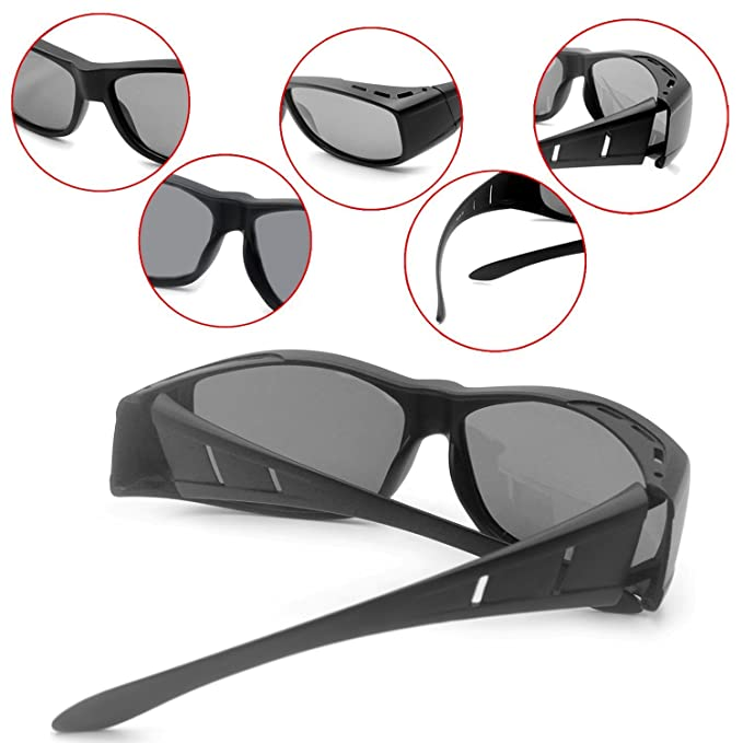 b9a123fe8b Over glasses sunglasses Polarized for men women  Sunglasses Wear Over   fit  over