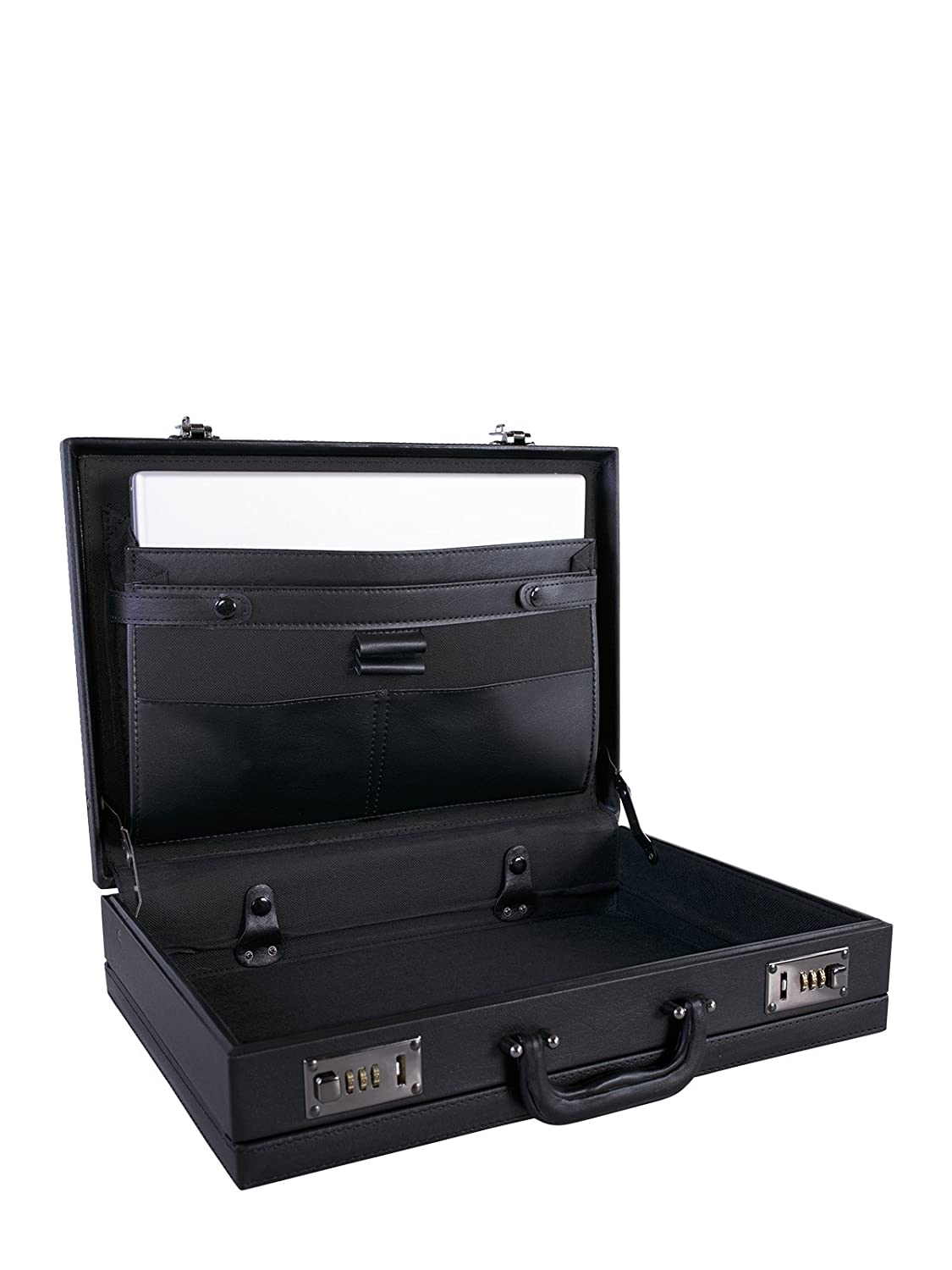 Black NEXTECH Durable PU Expandable Attache Case Under Seat Model:Y0902 009