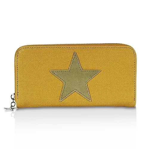 Glamexx24 Cartera con estampado de estrellas, cartera Cartera monedero de diseño vintage.: Amazon.es: Zapatos y complementos