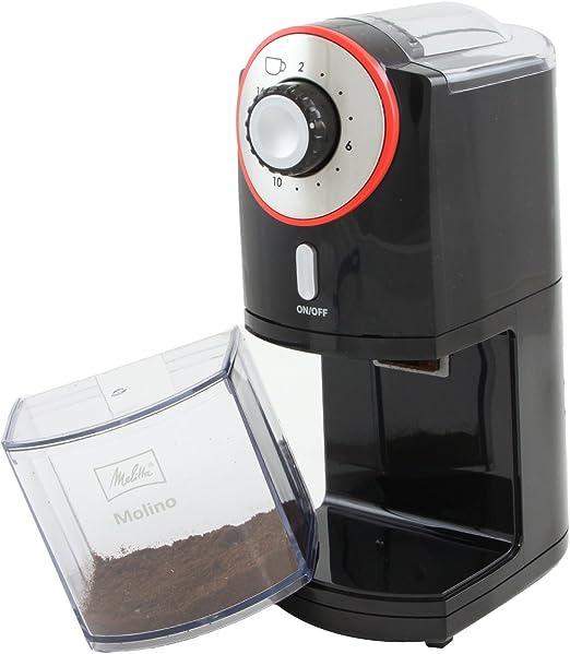 Disco plano Negro//Rojo Melitta Molinillo de caf/é el/éctrico Molino 1019-01