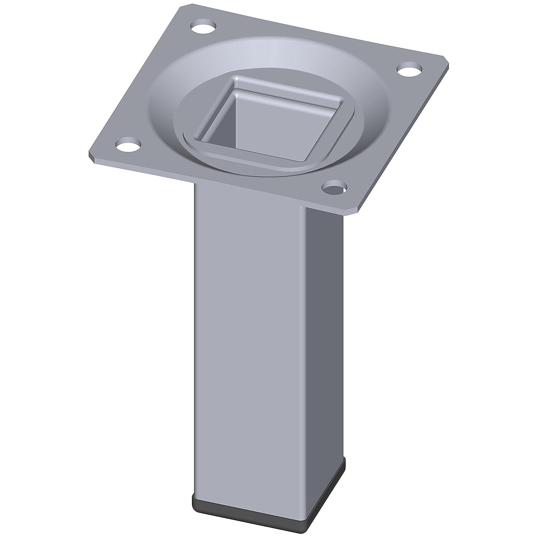 Element System 11101-00010 Pie para muebles negro 15 cm Set de 4 Piezas