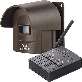 Hosmart Solar Alarm1/4 Mile Rechargable Wireless Sensor System