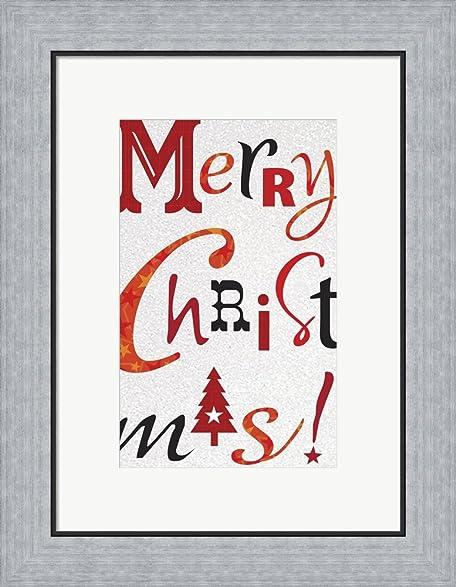 Amazon.com: Christmas Text White by Frank Spear Framed Art Print ...