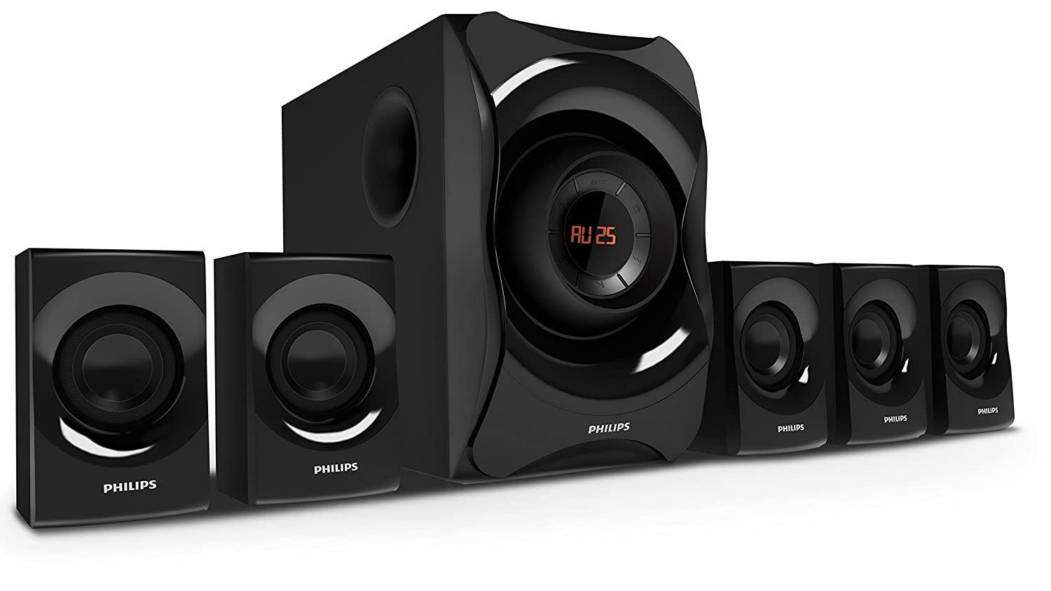 Philips SPA8000B/94 5 1 Channel Multimedia Speakers System (Black)