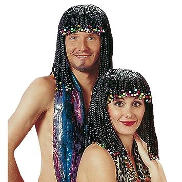 Black Rasta Wig With Beads In The Hair Reggae Unisex Black