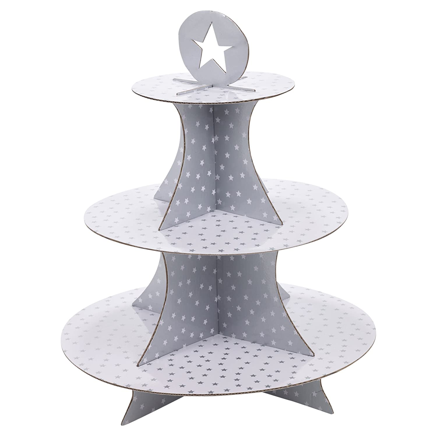 3 Tier Christmas Cake Stand Food Decorations Cardboard Party Dinner Canapés (Gold) EGT