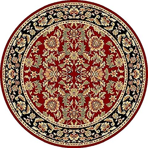 KAS Oriental Rugs Cambridge Collection Kashan Round Area Rug, 7' x 7