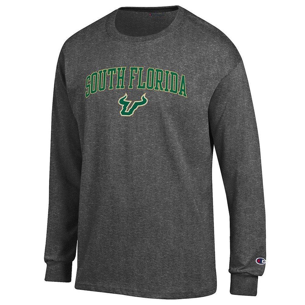 South Florida Bulls Charcoal XLarge NCAA Mens NCAA Long Sleeve Shirt Team color Arch