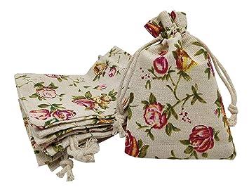 Amazon.com: Sanrich - Paquete de 20 bolsas de arpillera con ...