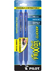 Pilot FriXion Clicker Retractable Erasable Gel Pens, Fine Point, Blue Ink, 2-Pack -31461