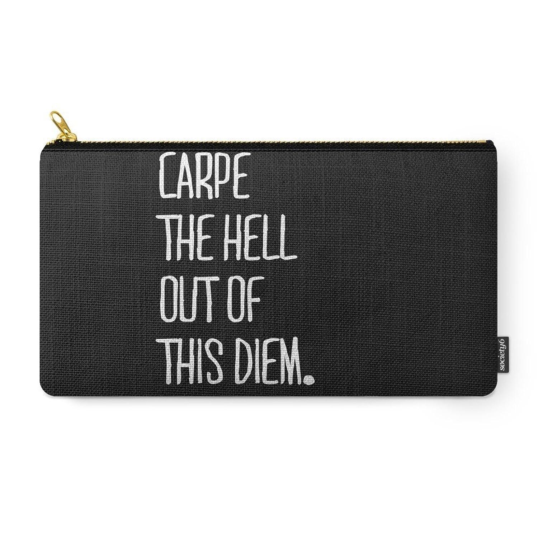 Society6 Carpe Diem ///www.pencilmeinstationery.com Carry-All Pouch