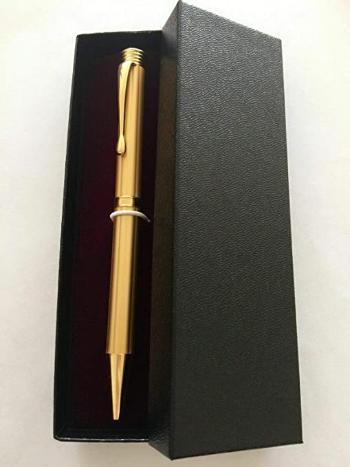 """BLACK /& GOLD PLATED PEN /""""STRATTON/"""" Metal Refillable Ballpoint in a GIFT BOX-NEW"""