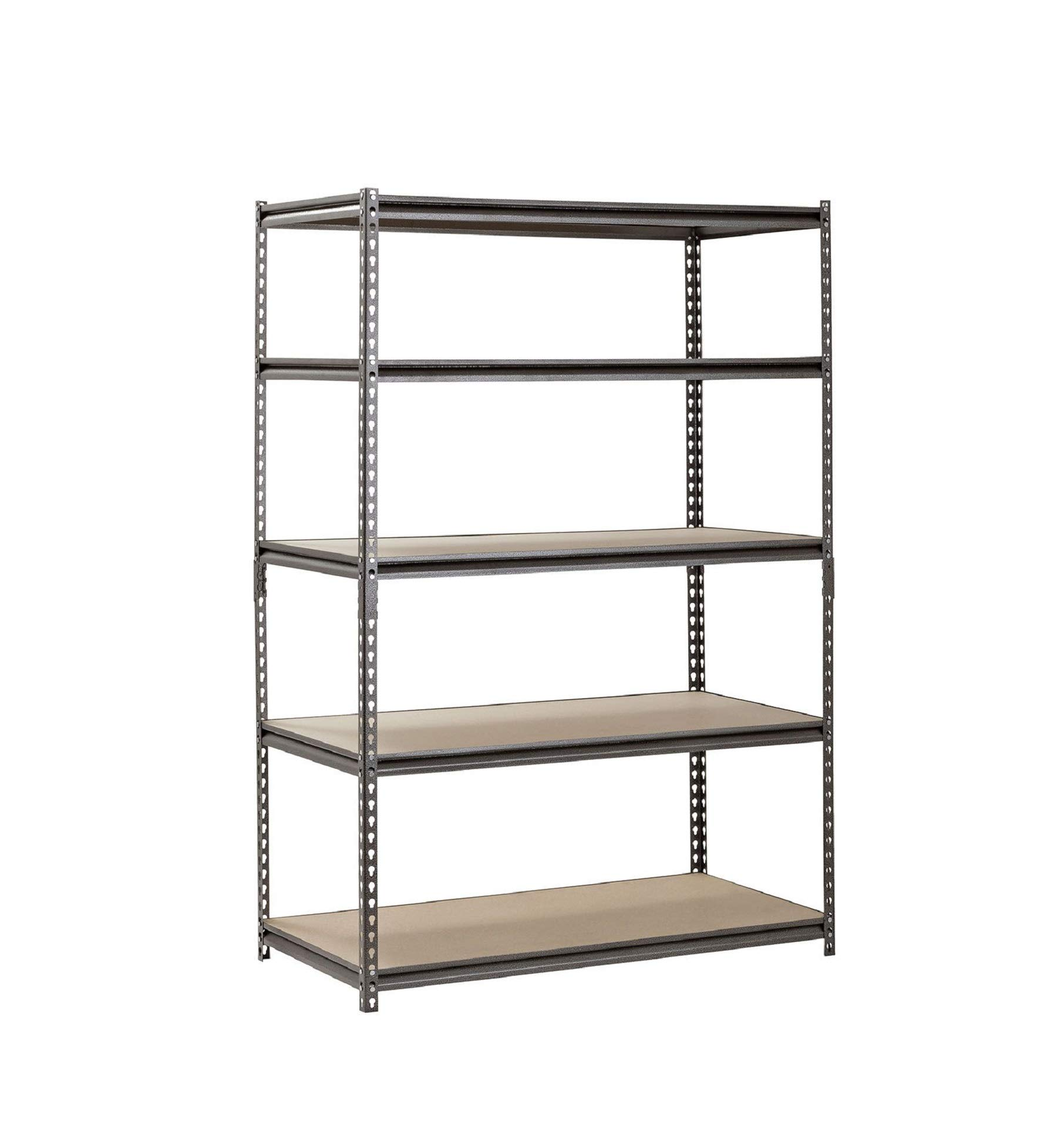Muscle Rack 5-Shelf Steel Shelving, Silver-Vein (18'' D x 48'' W x 72'' H) (1)