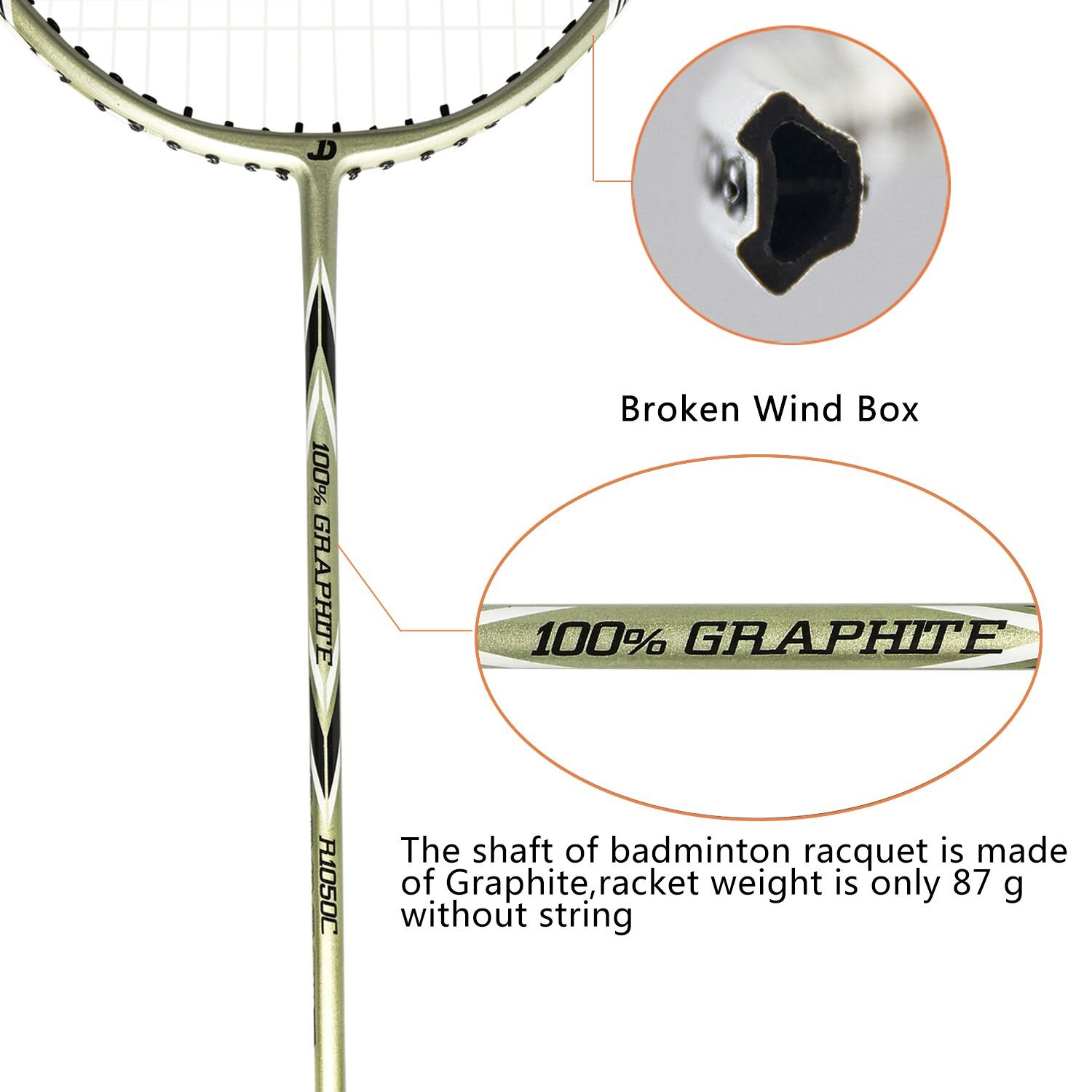 Amateurs and Beginners Very Light Ancees Badminton Rackets Set Including 1 Badminton Bag // 2 Rackets Ideal for Trainers Graphite Badminton Racquet 87+//-2 Gram Set