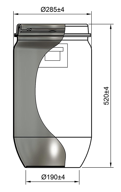 DUST COMMANDER P30 Kit plastique 30 litres