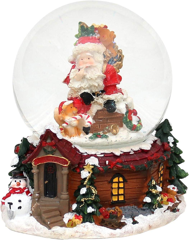 14,5 x 13,5 cm /Ø 10 cm Belle boule de neige avec bo/îte /à musique dimensions approx