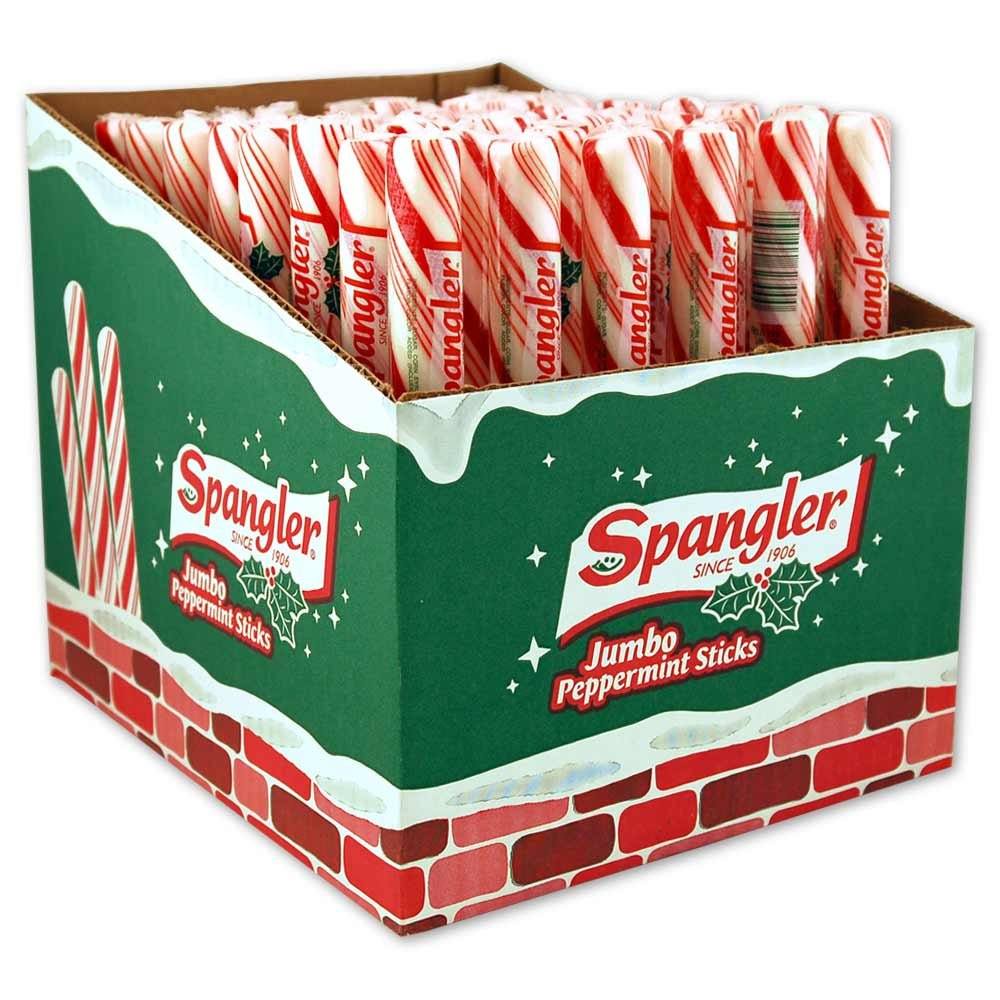 Spangler Jumbo Stick Peppermint Red & White, 3.5 Ounce (Pack of 48)