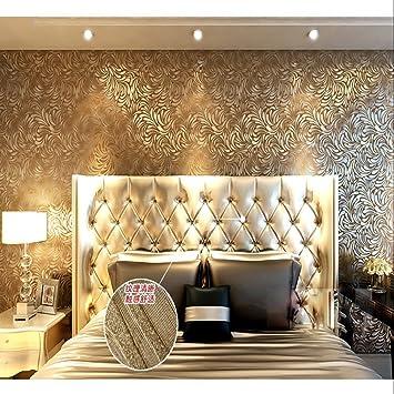 Ketian Moderner Puristischer Tief Prägung Von Hoher Textur Tapete Rolle Für  Wohnzimmer Schlafzimmer Braun Tapete (