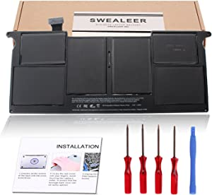 SWEALEER A1406 A1495 Battery Compatible for MacBook Air 11 inch A1370 Mid 2011 A1465 Mid 2012 2013 Early 2014 Replacement for MD223LL/A MC968LL/A MJVM2LLA MD711LL/A MD711LL/B [7.3V 35Wh/4860mAh A1406]