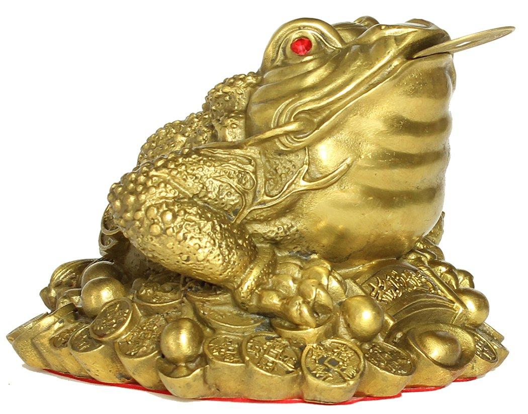 銭蛙 銭カエル 三脚蟾蜍 銅製 開運 置物 (S) B071YMDGLRSmall