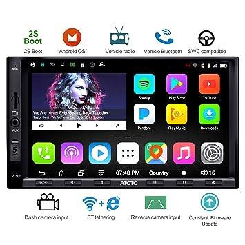 ATOTO A6 Doble DIN Android navegación del Coche estéreo con Doble Bluetooth - Estándar A6Y2710SB 1G / 16G Car Multimedia Radio, WiFi/BT Internet ...
