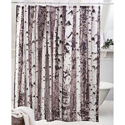 Get Orange Birch Tree Shower Curtain Home Decor Bathroom Waterproof Fabric Fashion Bath 72quot