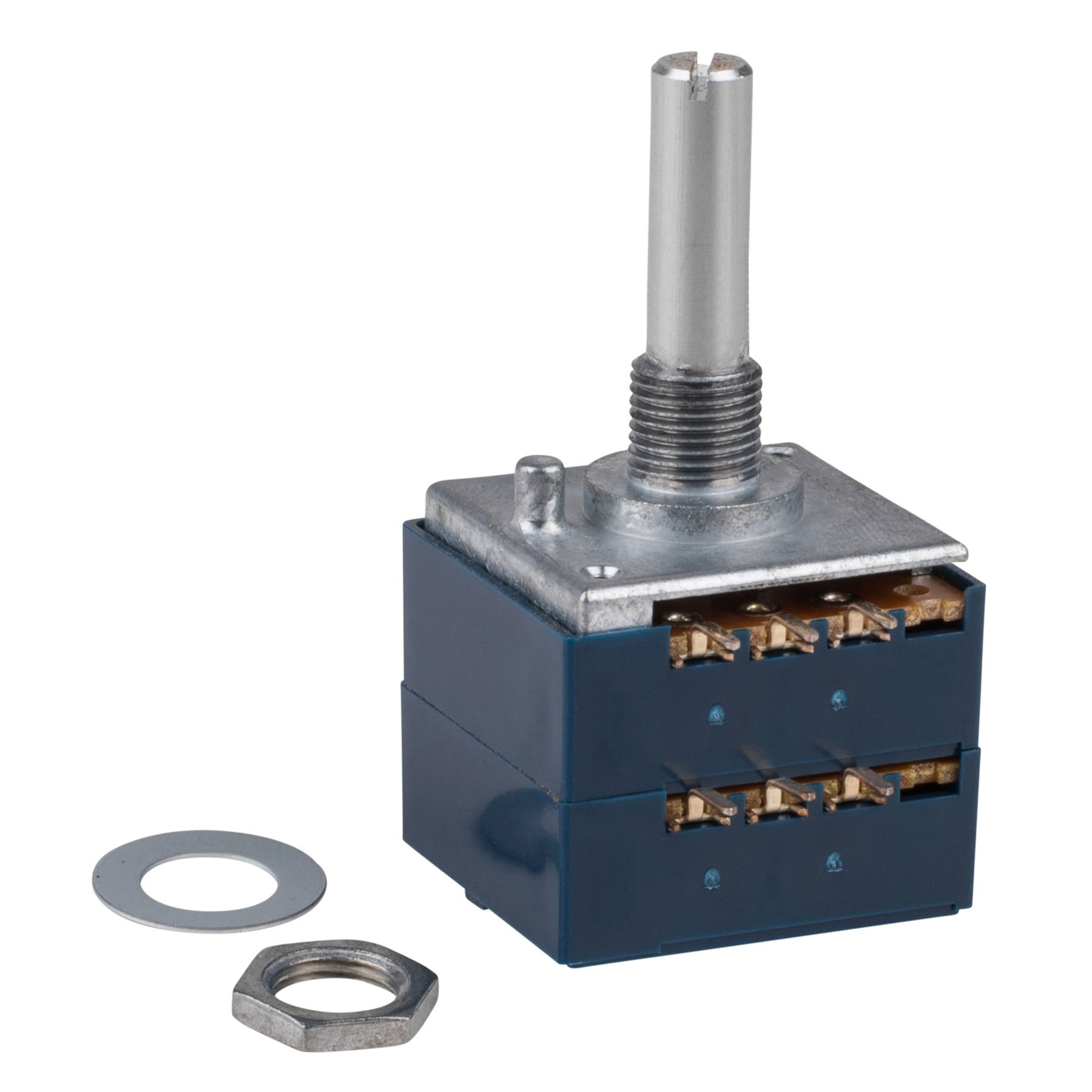 Parts Express ALPS 50KAX2 50K Ohm Audio Taper Stereo Potentiometer 6mm Shaft by Parts Express (Image #1)