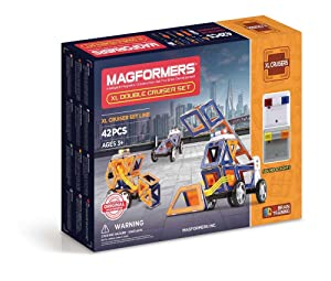 Magformers XL Double Cruiser (42 Piece) Set MagneticBuildingBlocks, EducationalMagneticTiles Kit , MagneticConstructionSTEM Toy Set