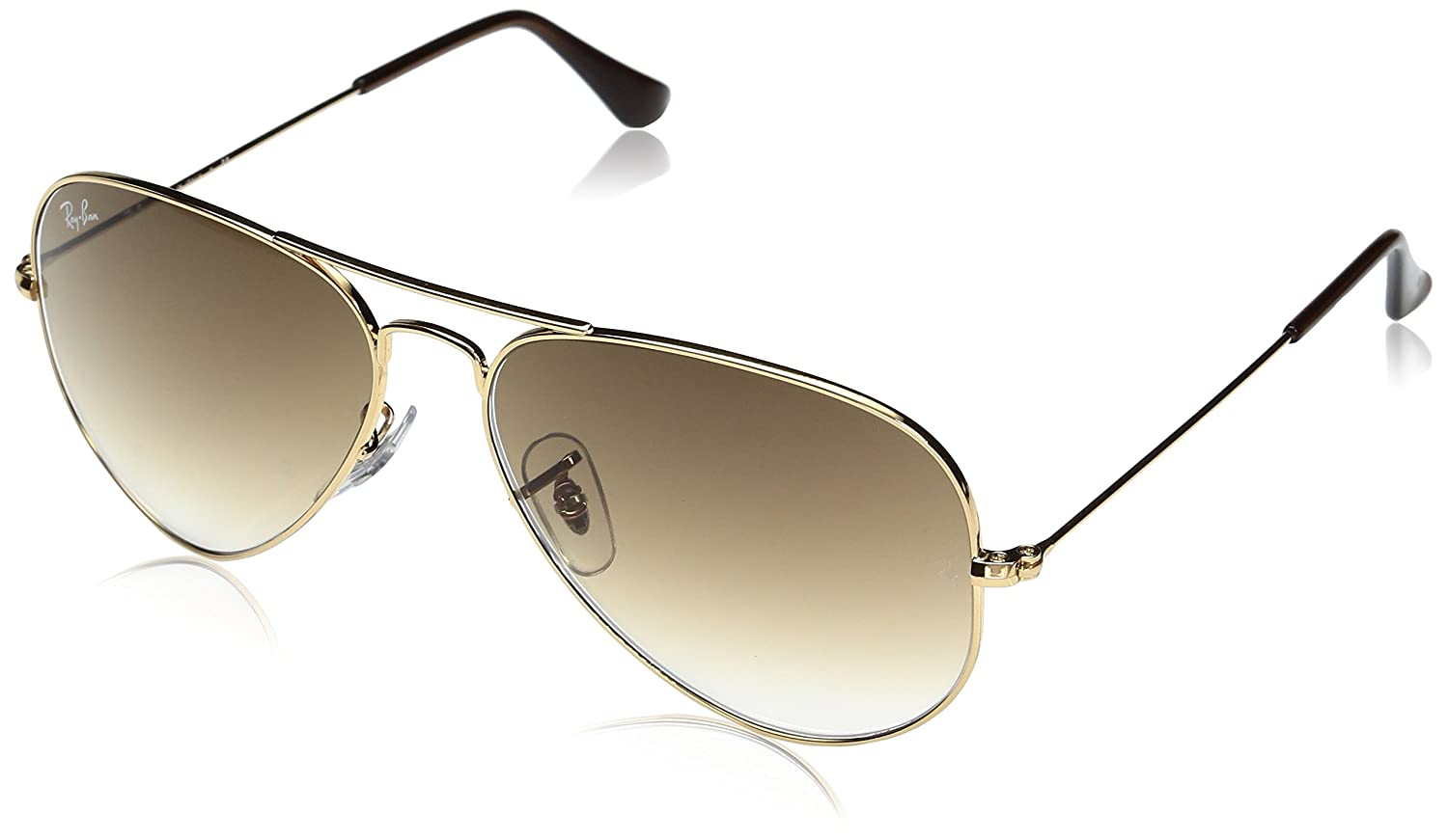 1e3471421b Amazon.com  Ray-Ban Aviator Large Metal Crystal Gold Mirror