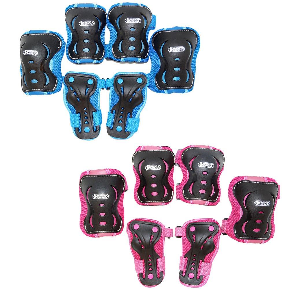Rose//Noir Best Sport Equipement de Protection pour Enfants 30265 Taille XS//S
