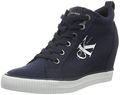 50177e9f785d9 Calvin Klein Jeans Damen Ritzy Canvas High-Top: Amazon.de: Schuhe ...