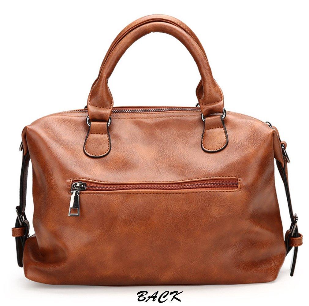 Juilletru Black Women Tote Bags PU Leather Handbags Top Handle Vintage Purse Crossbody Shoulder Bag by Juilletru (Image #3)