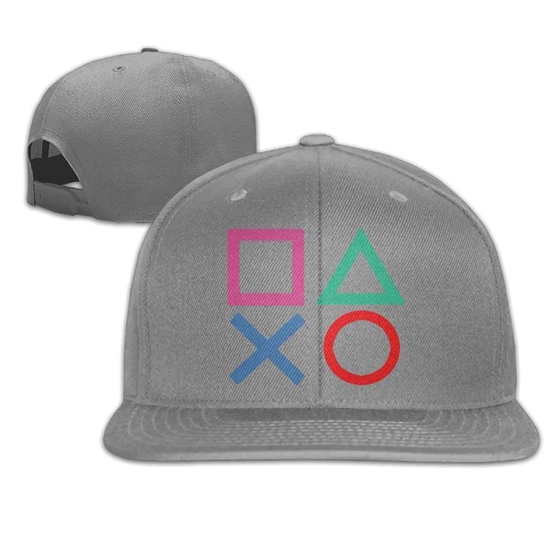 1a64552ab40 Amazon.com  VHJLI Playstation Joypad Flat Bill Snapback Ball Hat Black   Sports   Outdoors