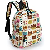Zicac Childrens' Cute Canvas School Backpacks Mini Rucksack School Bag