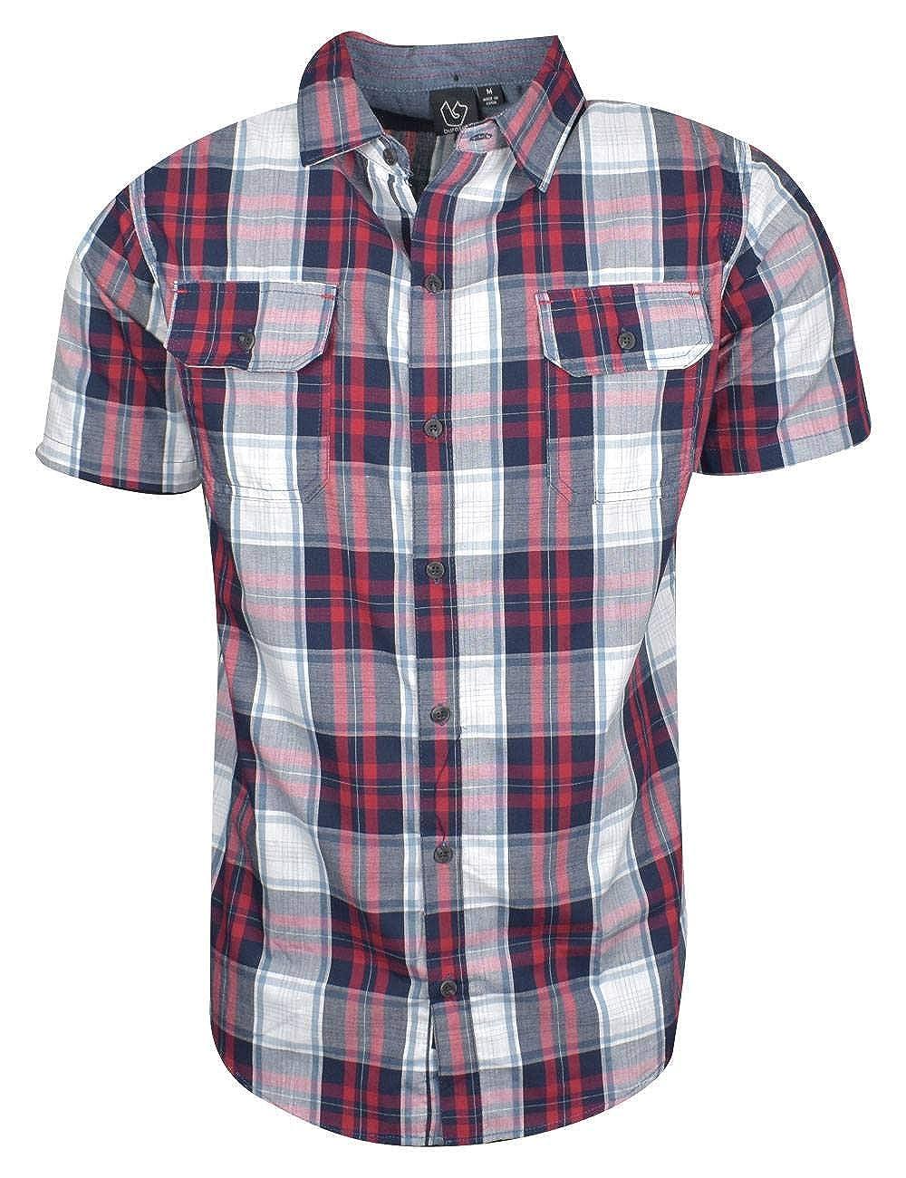 Burnside- Short Sleeve Plaid Woven Shirt BH9203A-XXL