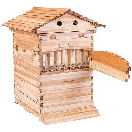 amazon com goplus beehive frames flow honey wooden beehive house