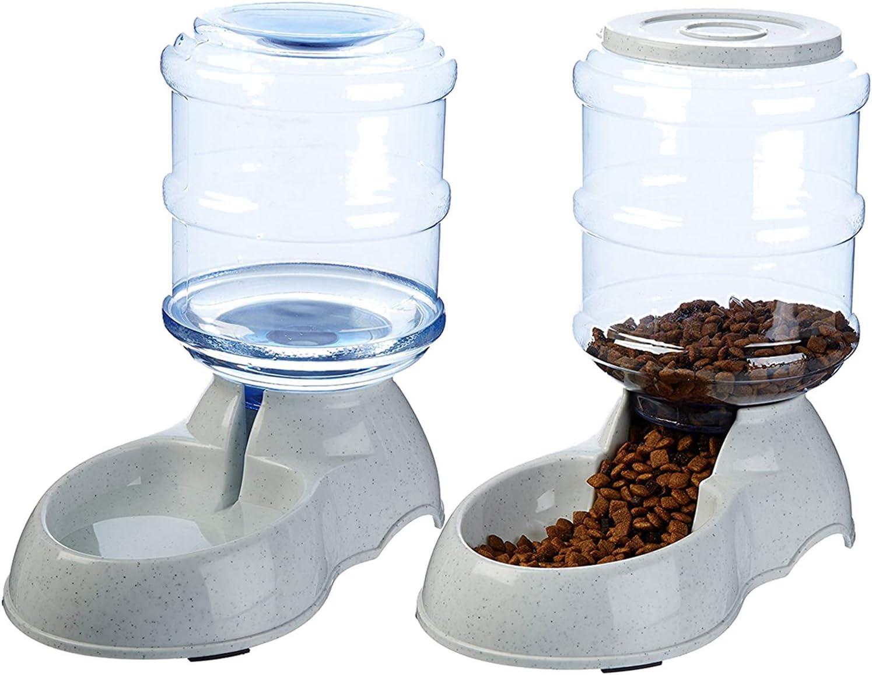 XIAPIA Dispensador de Agua Automático para Mascotas de Gatos/Perros 3.75L x 2 Piezas Preservador de Alimentos y Agua: Amazon.es: Productos para mascotas