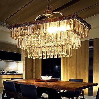 Kronleuchter Kristall Lampe Retro Bügeleisen Kreative Nordic Kronleuchter  Schlafzimmer Villa Lampe Treppe Lobby Luxuriöse Kronleuchter
