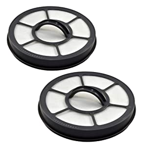 HQRP 2-Pack Exhaust Filter Compatible with Eureka Airspeed EF7 EF-7 091541 fits AS3000A AS3001A AS3008A AS3011A AS3030A AS3033A AS3035A AS3101A AS3104A AS3104AX AS3304A AS3401A Upright Vacuums