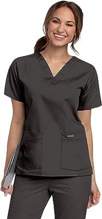 Landau Women's Durable and Comfortable 4-Pocket V-Neck Scrub Top Shirt