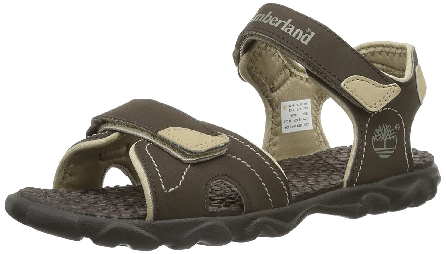Timberland Boys' Splashtown 2 Strap Sandal Fashion Sandals 4.5 Child UK 21 EU C77X7R