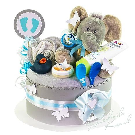 Pañales para tartas/PAMPERS Tarta > > Baby regalo para joven en un bonito tono
