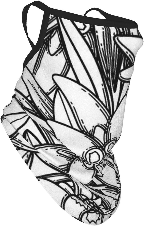 Colin-Design Patr/ón sin costuras Gr/áfico Edelweiss Flores Pasamonta/ñas Bandanas Cuello Gaiter Headwear Bufanda Polvo Viento Protecci/ón O/ído Perchas Tubo sin costuras M/áscara