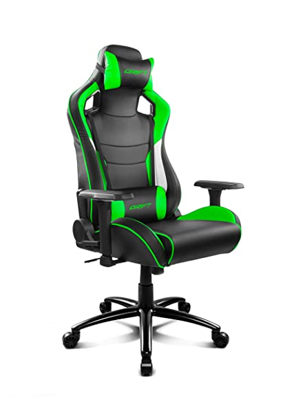 Amazon.com : Drift dr400bg Gaming Chair - Black and Green ...
