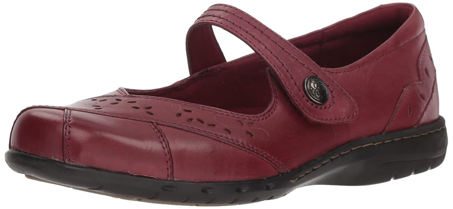 Rockport Cobb Hill Women's Petra Mary Jane Flat Bordeaux 10 M US