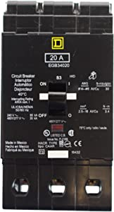 SCHNEIDER ELECTRIC 480Y/277-VOLT 20-AMP EGB34020 Miniature Circuit Breaker 480Y/277V 20A