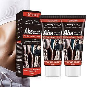 Hot Cream Fat Burner, 2Pack Cellulite Belly Fat Burning Hot Fat Sweat Cream for Abdominal Muscles Growth, Sweat Workout Enhancer Gel Tighten Slim Buttocks Thighs Legs for Men Women