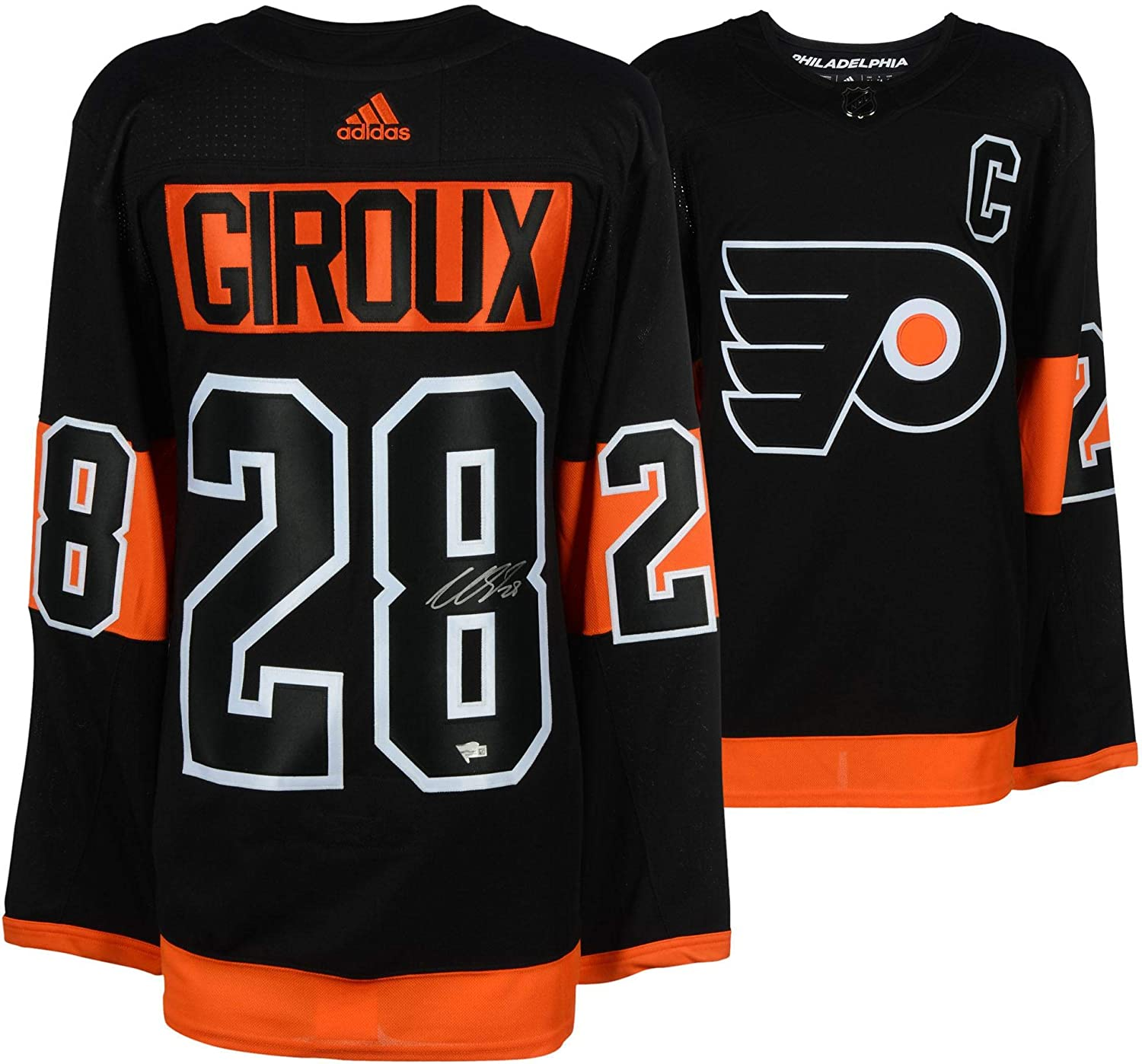 ab71b533c Claude Giroux Philadelphia Flyers Autographed Black Alternate Adidas  Authentic Jersey - Fanatics Authentic Certified at Amazon s Sports  Collectibles Store