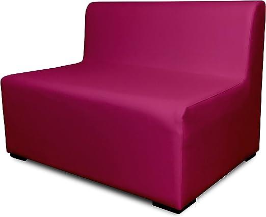 SUENOSZZZ-ESPECIALISTAS DEL DESCANSO Sofa Exterior Modular Benahavis 2 Plazas Color Fucsia tapizado en Polipiel Silva. Chill out Jardin o recepcion.: Amazon.es: Hogar