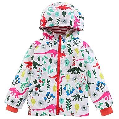 e54b497ddfef LZH Toddler Boys Waterproof Raincoat Dinosaur Hooded Jacket ...